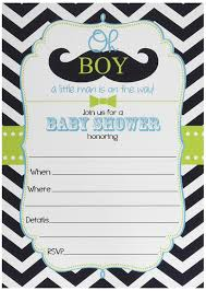 amazon com 50 mustache oh boy baby shower invitations and