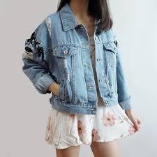 light blue cropped jean jacket lace up cropped denim jacket light blue megoosta fashion free