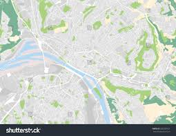 Rouen France Map by Vector City Map Rouen France Stock Vector 356533727 Shutterstock