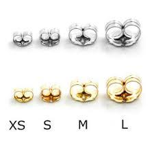 gold earring backs 14k white yellow solid gold earring backs large medium small 1