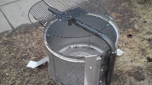 Grill For Fire Pit by Stainless Steel Washer Drum Fire Pit With Grill Youtube