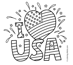 American Flag To Color Heart American Flag Coloring Page Wohndesign