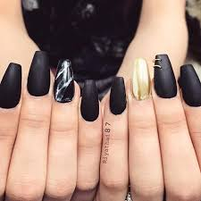 Black Manicure Designs 27 Fancy Ways To Rock Matte Black Nails Naildesignsjournal Com