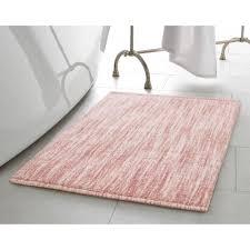 Pink Bathroom Rugs by Laura Ashley 20 In X 34 In Blush Cotton Ruffle Bath Rug