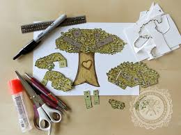 custom carved tree pop up card great for s day free