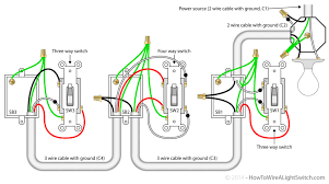 4 way switch with power feed via the light and wiring multiple