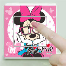 cute minnie mouse switch stickers diy wall art decals peel