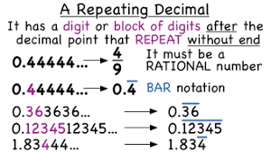 what is a repeating decimal virtual nerd