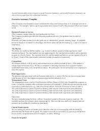 Executive Summary For Resume Sample by Executive Summary Example Resume Template Examples