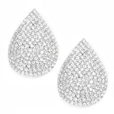 bridal clip on earrings rhinestone bridal clip earrings usjewelryhouse