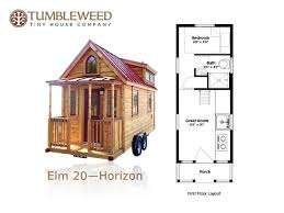 tiny plans 117 sq ft no loft tiny home tumbleweed elm 20 horizon tiny