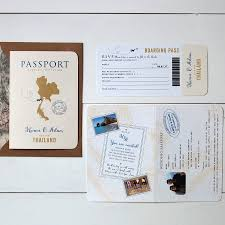 all about travel passport wedding invitation and rsvp by ditsy