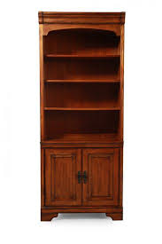 Wood Bookcase With Doors Bookshelves Bookcases For Home Office Mathis Brothers
