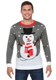 snowman with scarf ugly christmas sweater