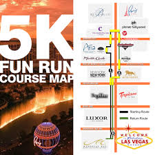 Map Las Vegas Strip The Country U0027s Best Private 5k And Running Race Company That Also