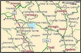 map of perugia reaching casa rosa casa rosa