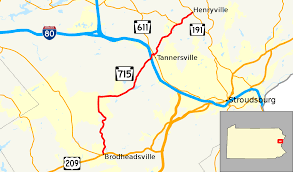 Google Maps Truck Route by Pennsylvania Route 715 Wikipedia