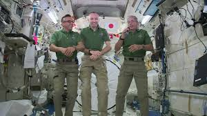 astronauts celebrating thanksgiving sure to a lot of space