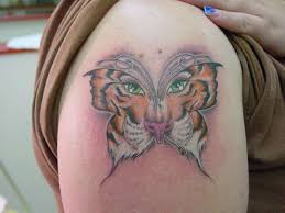 tiger butterfly tattoos