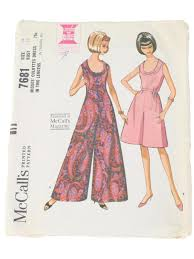 long in back short 60s in front vintage mccalls pattern no 7681 sixties sewing pattern 60s
