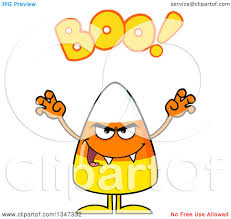 cartoon halloween pic clipart of a cartoon halloween candy corn character with vampire