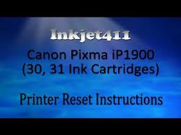 resetter ip1900 win 7 canon pixma ip1900 printer reset procedure 30 31 ink cartridges