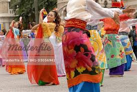 dancers wearing traditional dress at celebrations of