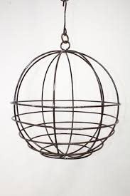 medium wrought iron hanging planter ball