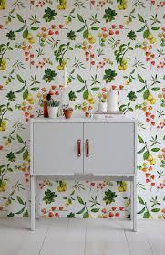 guava wallpaper watercolor vibrant wall mural self adhesive