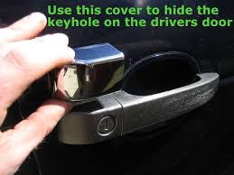 lexus door handle key cover door keyhole plug u0026 satin nickel hole cover plate