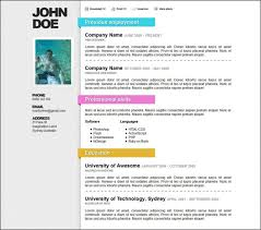 resume templates doc free 6 microsoft word doc professional resume and cv templates