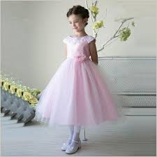 flower girl dresses thalia flower girl dress in pink wth lace collar demigella