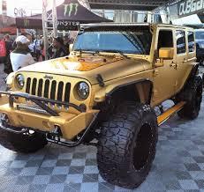 gold jeep wrangler 12 sema jeep las vegas lifted jeep wrangler awesome jeeps