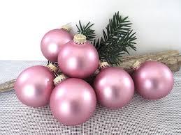 glass ornament vintage pink ornaments mercury glass