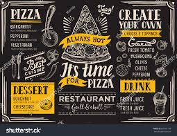 pizza food menu restaurant cafe design stock vector 601991108