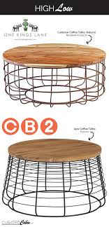 Wire Coffee Table High Low Wire Framed Coffee Table The Curated Cabinthe Curated