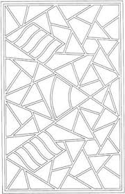 geometric odette coloring pages kids