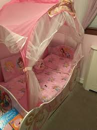girls princess carriage bed disney princess carriage toddler bed in bellshill north