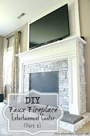 fake fireplace entertainment center faux stone electric corner