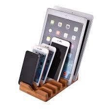 support smartphone bureau bois bambou mobile téléphone bureau support à tablette pour iphone