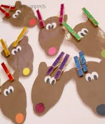 color matching reindeer clothespin activity snippets