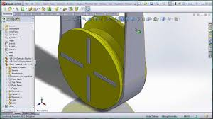 solidworks belt on cross section pulley youtube