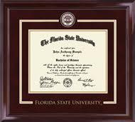 fsu diploma frame florida state showcase edition diploma frame in encore