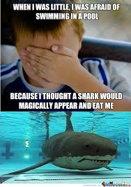 Swimming Pool Meme - irrational fear of swimming in a pool by recyclebin meme center