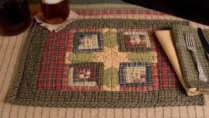 tea cabin quilted placemats set of 6 primitive quilt shop