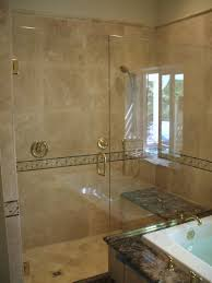 bathroom interesting frameless shower doors for bathroom cool frameless shower doors with golden handle and tile wall and shower bench for bathroom decoration