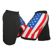 American Flag Workout Shorts Flag Mma Shorts Combativesgear Mixed Martial Arts Shorts