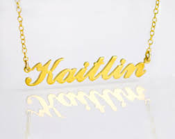 14 karat gold nameplate necklaces gold name plate etsy