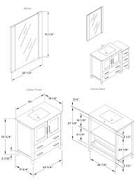 Standard Vanity Height Nz Standard Vanity Size Home Design