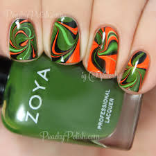 halloween watermarbling u0026 nail art peachy polish bloglovin u0027